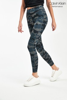 Calvin Klein Performance Camouflage Full Length Tights