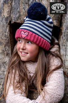 Animal Slate Rose Pink Gretel Knitted Beanie Hat