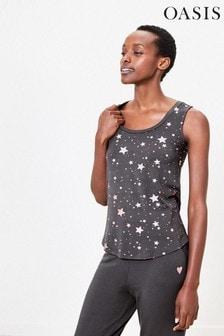 Oasis Grey Star Foil Vest