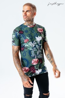 Hype. Mens Multi Paisley Field T-Shirt