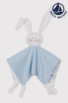 Petit Bateau Blue Comforter Bunny Toy