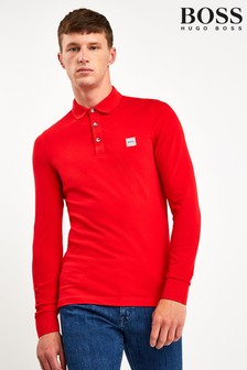 BOSS Red Passerby Long Sleeve Poloshirt