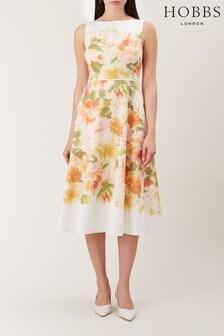 Hobbs White Dahlia Dress