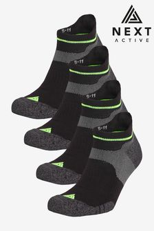 Next Active Cushioned Trainer Socks Four Pack