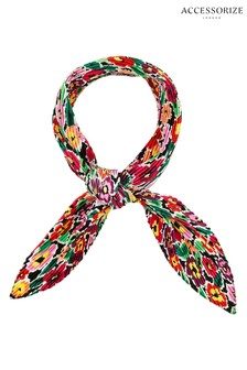 Accessorize Red Retro Floral Crinkle Bandana