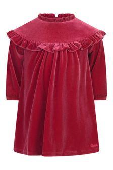 Baby Girls Red Velvet Dress