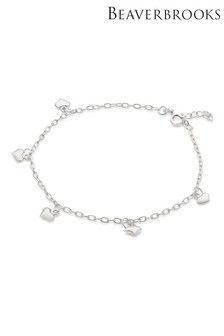 Beaverbrooks Silver Heart Anklet