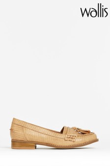 Wallis Bluebell Natural Tassel Loafer Shoes