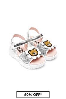 Moschino Kids Girls Leather Sandals