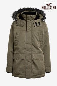 Hollister Olive Parka Jacket