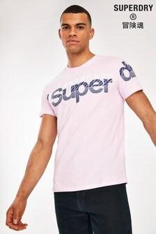Superdry Lilac Core Split Logo T-Shirt
