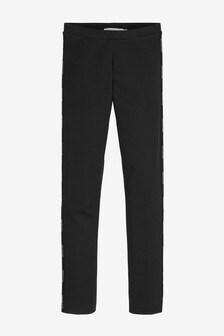 Calvin Klein Jeans Black Logo Tape Leggings