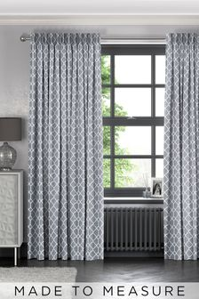 Earle Steel Grey Made To Measure Curtains