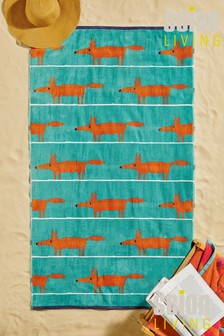 Scion Mr Fox Cotton Beach Towel