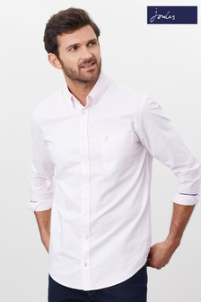 Joules Pink The Slim Laundered Oxford Shirt