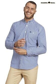 Raging Bull Blue Long Sleeve Signature Gingham Shirt