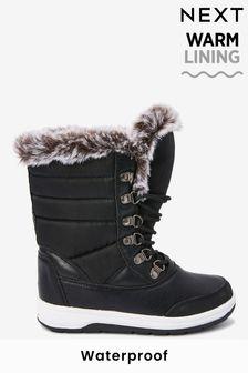 Waterproof Warm Faux Fur Lined Snow Boots (Older)
