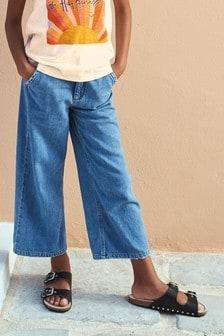 Широкие джинсы (3-16 лет)