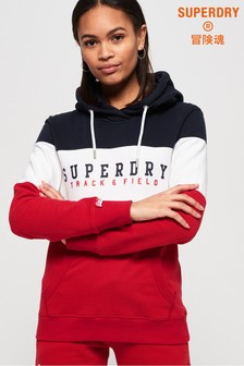 Superdry Track & Field Lightweight Colourblock Hoody
