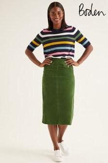 Boden Green Natalie Midi Skirt