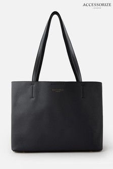 Accessorize Black Leo Tote Bag