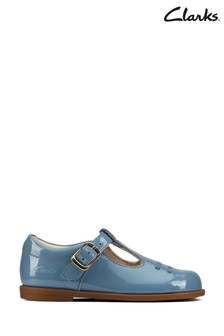 Clarks Mid Blue Leather Drew Play Shoes