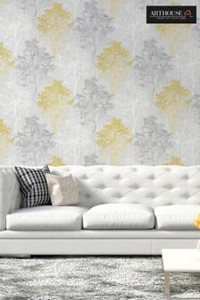 Arthouse Ochre Wildwood Wallpaper