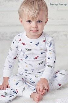 Kissy Kissy White Aviators Pyjamas
