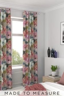 Edinburgh Weavers Nikita Floral Made To Measure Curtains