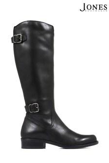 Jones Bootmaker Black Leather Ladies Knee High Rider Boots