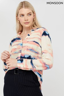 Monsoon Cream Tilly Tie Dye Print Shirt