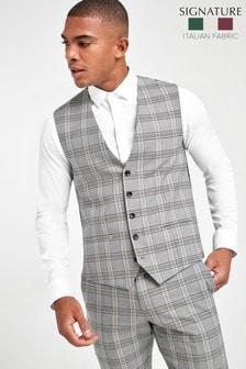 Slim Fit Signature Check Suit: Jacket