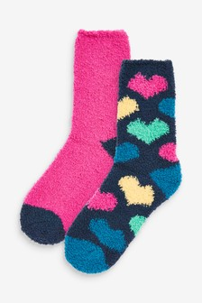 Cosy Bed Socks Two Pack