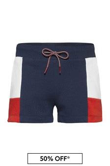 Tommy Hilfiger Girls Navy Cotton Shorts