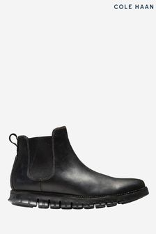 Cole Haan Black Zerogrand Chelsea Elasticated Boots