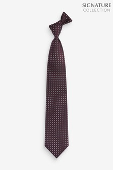 Geometric Spot Signature Silk Tie
