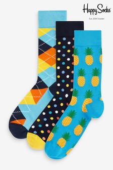 HS By Happy Socks Pineapple 3 Pack Socks