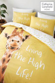 Catherine Lansfield Giraffe Duvet Cover and Pillowcase Set