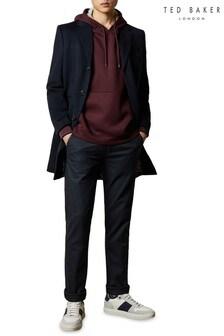 Ted Baker Blue Squishy Slim Fit Herringbone Woven Trousers