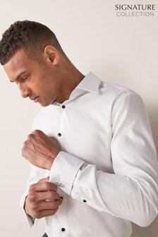 Trim Detail Signature Textured Shirt