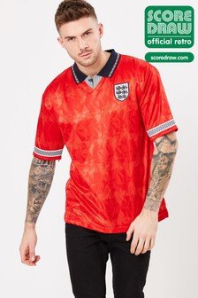 Score Draw England 1990 World Cup Finals Retro Jersey
