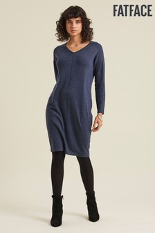 FatFace Blue Clare Cocoon Jumper Dress
