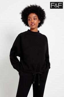 F&F Black Bubble Hem Sweater