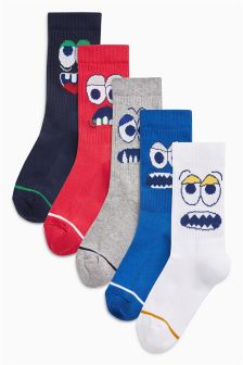 Character Sports Style Socks Five Pack (Older)