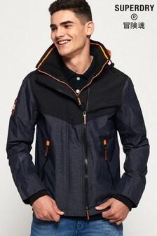 Superdry Hooded Tech Axis Pop Zip SD-Windcheater Jacket