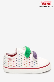 Vans Infant Rainbow Heart Velcro Strap Trainers