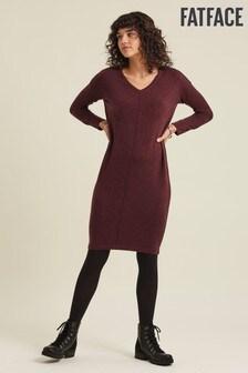 FatFace Purple Clare Cocoon Jumper Dress