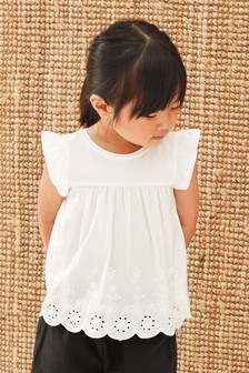 Woven Front Jersey Back Blouse (3mths-7yrs)