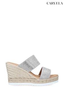 Carvela Klear Silver Sandals