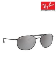 Ray-Ban® Black Round ORB3654 Sunglasses